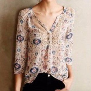 Anthropologie Maeve Peasant Boho Top (4)